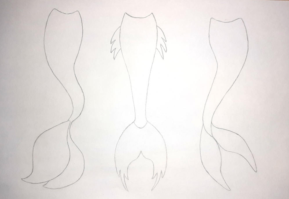 how to draw a mermaid tail drawing instruction